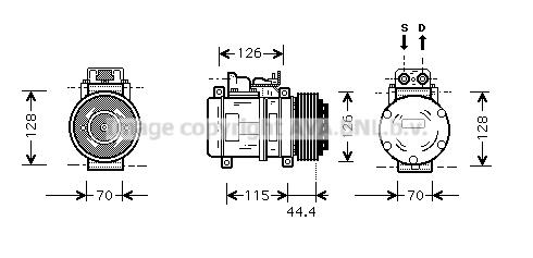 Compresseur AVA QUALITY COOLING MSK116 (X1)