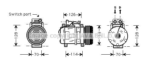 Compresseur AVA QUALITY COOLING MSK273 (X1)