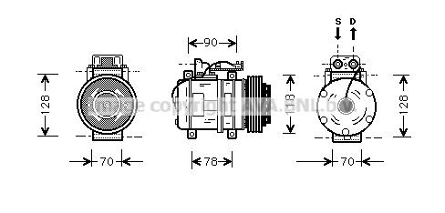 Compresseur AVA QUALITY COOLING MSK275 (X1)