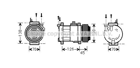 Compresseur AVA QUALITY COOLING MSK276 (X1)