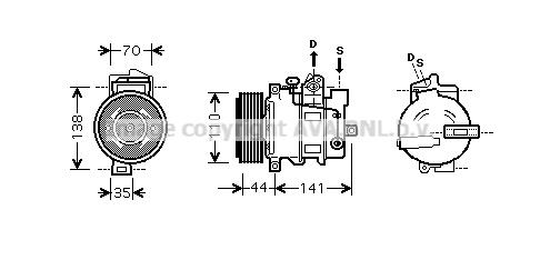 Compresseur AVA QUALITY COOLING MSK401 (X1)