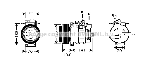 Compresseur AVA QUALITY COOLING MSK426 (X1)