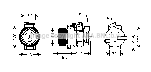 Compresseur AVA QUALITY COOLING MSK427 (X1)