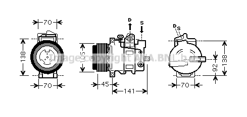 Compresseur AVA QUALITY COOLING MSK429 (X1)