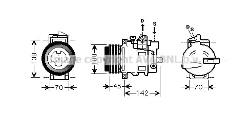 Compresseur AVA QUALITY COOLING MSK430 (X1)