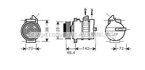 Compresseur AVA QUALITY COOLING MSK437 (X1)