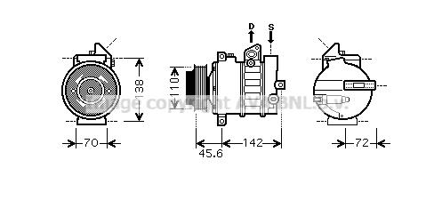 Compresseur AVA QUALITY COOLING MSK438 (X1)