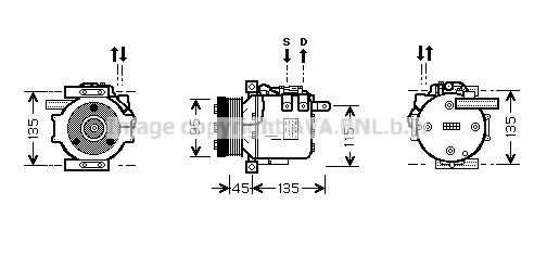 Compresseur AVA QUALITY COOLING MSK456 (X1)