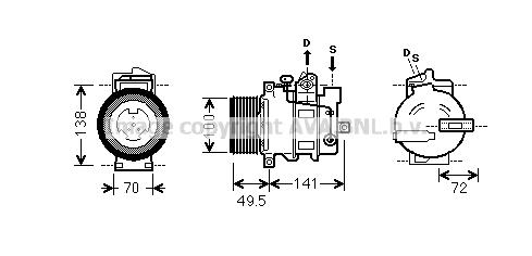 Compresseur AVA QUALITY COOLING MSK476 (X1)