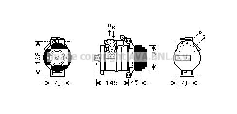 Compresseur AVA QUALITY COOLING MSK530 (X1)