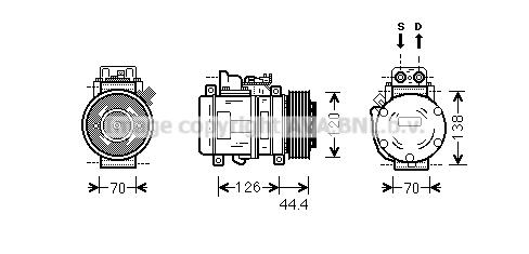 Compresseur AVA QUALITY COOLING MSK558 (X1)