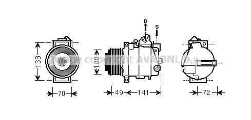Compresseur AVA QUALITY COOLING MSK560 (X1)
