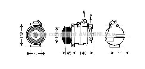 Compresseur AVA QUALITY COOLING MSK561 (X1)