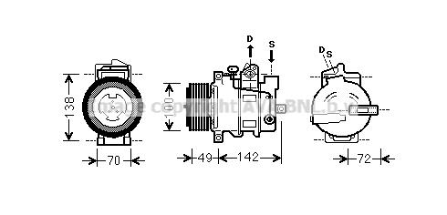 Compresseur AVA QUALITY COOLING MSK566 (X1)