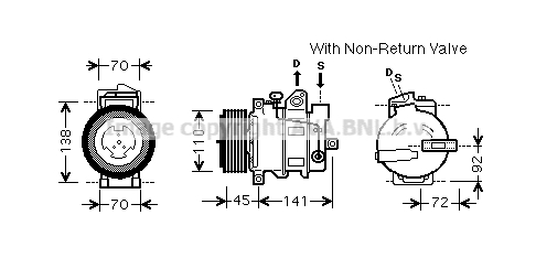Compresseur AVA QUALITY COOLING MSK569 (X1)