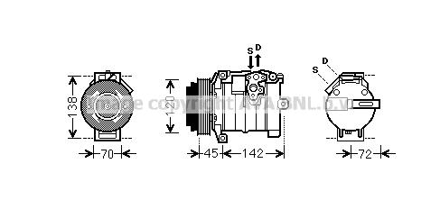 Compresseur AVA QUALITY COOLING MSK574 (X1)