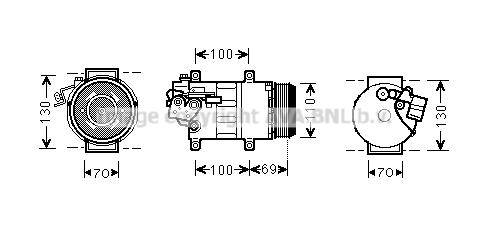 Compresseur AVA QUALITY COOLING MSK576 (X1)