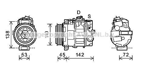 Compresseur AVA QUALITY COOLING MSK577 (X1)