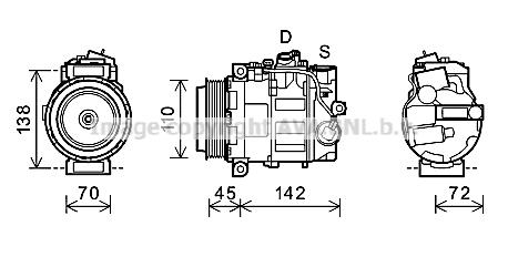 Compresseur AVA QUALITY COOLING MSK580 (X1)