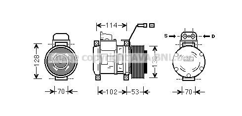 Compresseur AVA QUALITY COOLING MSK583 (X1)