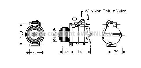 Compresseur AVA QUALITY COOLING MSK584 (X1)