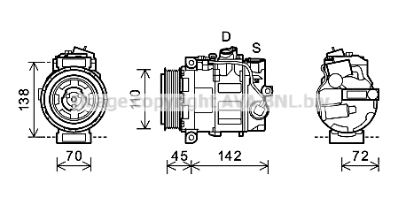 Compresseur AVA QUALITY COOLING MSK585 (X1)