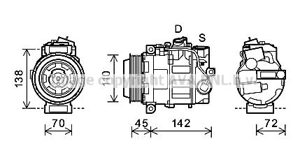 Compresseur AVA QUALITY COOLING MSK586 (X1)