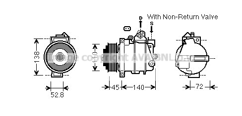 Compresseur AVA QUALITY COOLING MSK587 (X1)