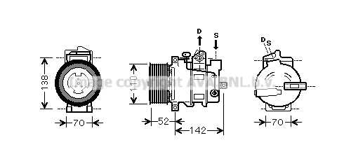Compresseur AVA QUALITY COOLING MSK590 (X1)