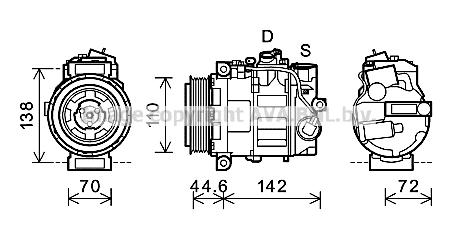 Compresseur AVA QUALITY COOLING MSK611 (X1)