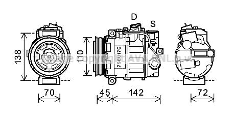 Compresseur AVA QUALITY COOLING MSK615 (X1)