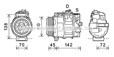 Compresseur AVA QUALITY COOLING MSK636 (X1)