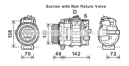 Compresseur AVA QUALITY COOLING MSK638 (X1)