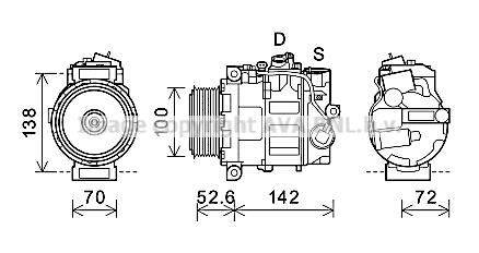 Compresseur AVA QUALITY COOLING MSK639 (X1)