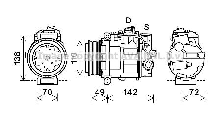 Compresseur AVA QUALITY COOLING MSK644 (X1)
