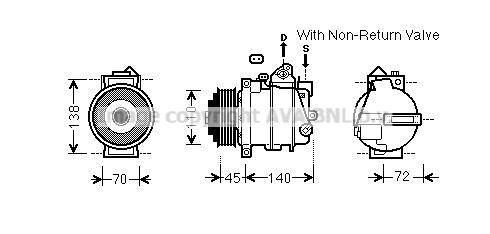 Compresseur AVA QUALITY COOLING MSK672 (X1)