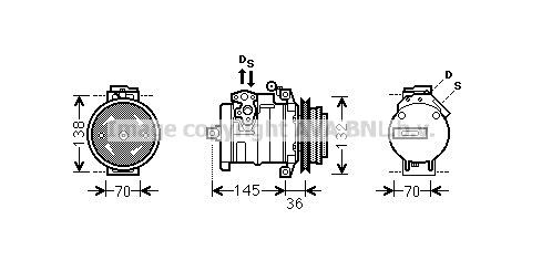 Compresseur AVA QUALITY COOLING MSK681 (X1)