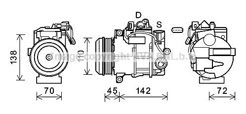 Compresseur AVA QUALITY COOLING MSK683 (X1)
