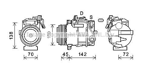 Compresseur AVA QUALITY COOLING MSK697 (X1)