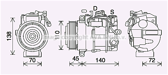 Compresseur AVA QUALITY COOLING MSK705 (X1)