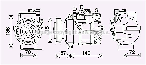Compresseur AVA QUALITY COOLING MSK706 (X1)