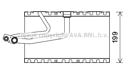 Evaporateur AVA QUALITY COOLING MSV641 (X1)