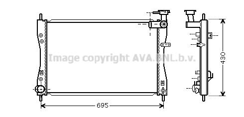 Radiateur de refroidissement AVA QUALITY COOLING MT2173 (X1)