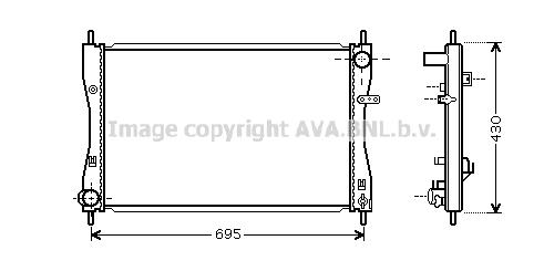 Radiateur de refroidissement AVA QUALITY COOLING MT2174 (X1)