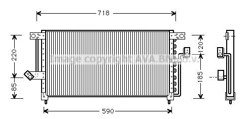 Condenseur / Radiateur de climatisation AVA QUALITY COOLING MT5098 (X1)