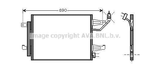 Condenseur / Radiateur de climatisation AVA QUALITY COOLING MT5177D (X1)