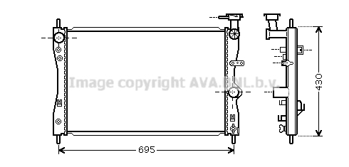 Radiateur de refroidissement AVA QUALITY COOLING MTA2172 (X1)