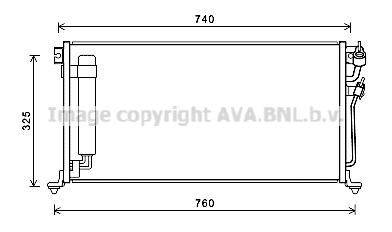 Condenseur / Radiateur de climatisation AVA QUALITY COOLING MTA5220D (X1)