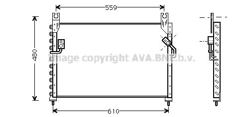 Condenseur / Radiateur de climatisation AVA QUALITY COOLING MZ5122 (X1)