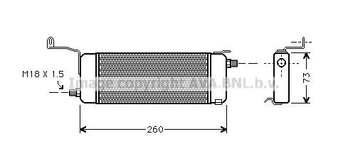 Radiateur huile AVA QUALITY COOLING OL3258 (X1)